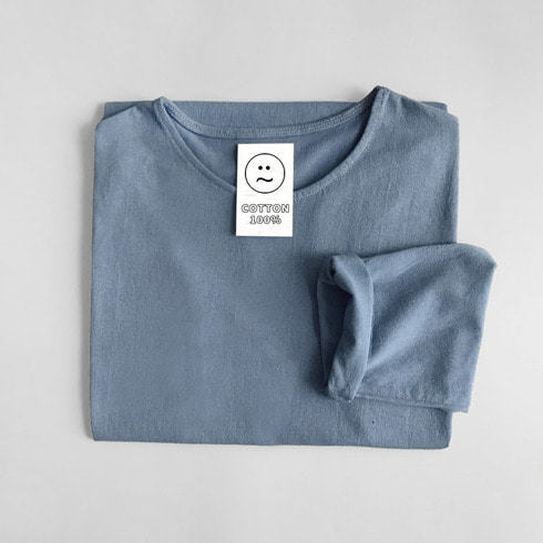 COZY COTTON TOP (LIGHT INDIGO)