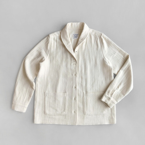 GARCONNE FLEECE SHIRT (CREAM)