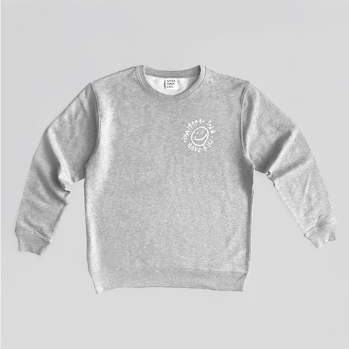 HBBF! SWEATSHIRT (LIGHT GRAY)
