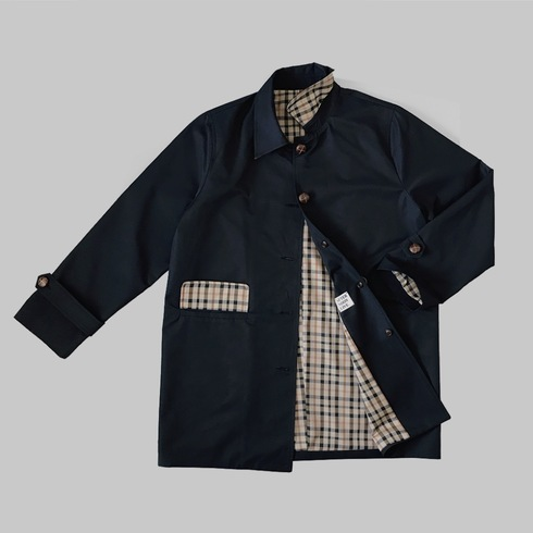 ANDERSON OVERSIZED MAC SINGLE COAT (OXFORD BLUE)