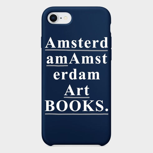 AMSTERDAM ART BOOKS IPHONE CASE (MIDNIGHT BLUE)