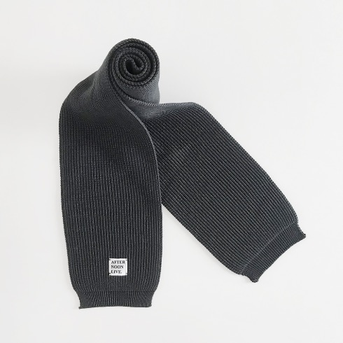 AFTERNOONLIVE KNITTED MUFFLER (CHARCOAL GRAY)