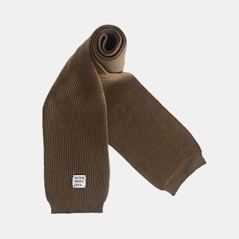 AFTERNOONLIVE KNITTED MUFFLER (COFFEE LIQUEUR)