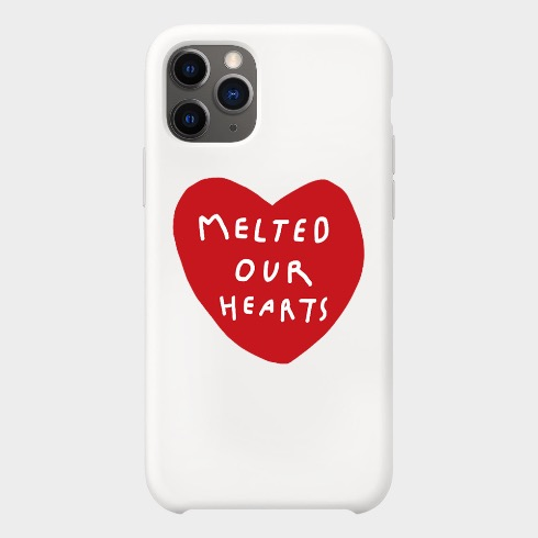 MELTED OUR HEARTS IPHONE CASE (AURORA RED/WHITE)