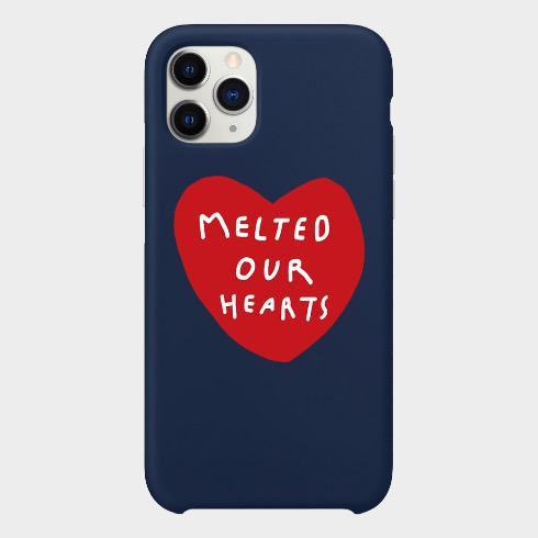 MELTED OUR HEARTS IPHONE CASE (AURORA RED/NAVY BLUE)