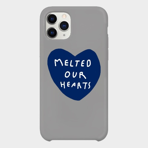 MELTED OUR HEARTS IPHONE CASE (DARK BLUE/GRAY)