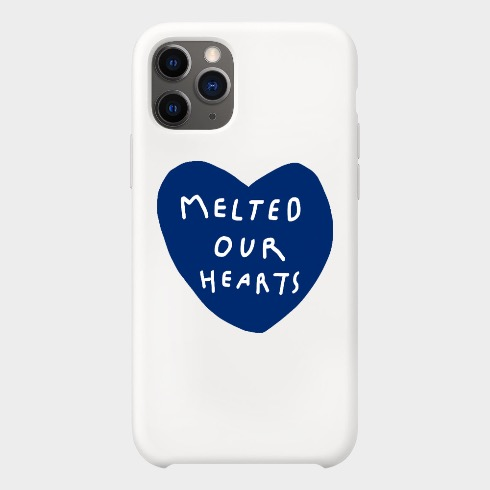 MELTED OUR HEARTS IPHONE CASE (DARK BLUE/WHITE)