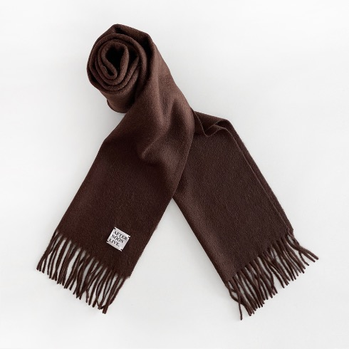 AFTERNOONLIVE WOOL MUFFLER (ESPRESSO BROWN)