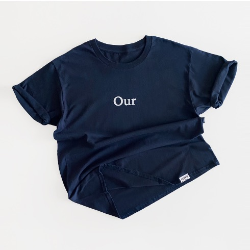 OUR(melted our hearts) 1/2 T-SHIRT (MIDNIGHT BLUE)