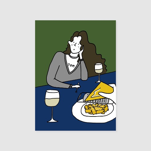 WINE AND CHEESE POSTER (A2)