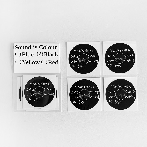 SOUND IS COLOUR! STICKERS (Black)