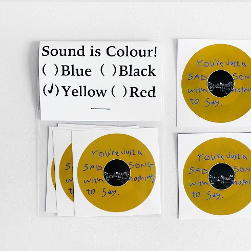 SOUND IS COLOUR! STICKERS (Yellow)